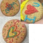 We decorated biscuits for our loved ones for valentines