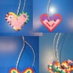 And made these wonderful Hama Bead hanging hearts