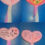 We also made heart wands for Valentines day